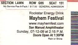 Mayhem Festival 09