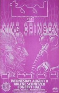 Tool-King-Crimson-Portland-Oregon-Concert-Poster