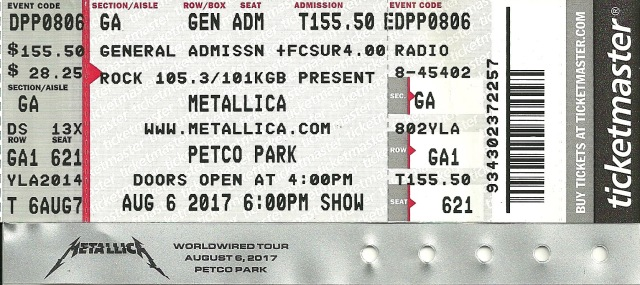 MetallicaPetcoTicket